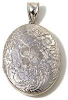 Michael Anthony Jewelry Diamond-Accent Floral Design Sterling Silver Locket
