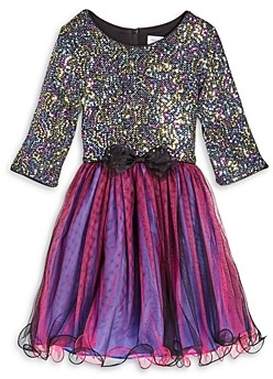 Us Angels Girls' Sequin Dress - Little Kid