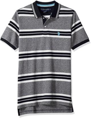 U.S. Polo Assn. Men's Short Sleeve Classic Fit Striped Pique Polo Shirt