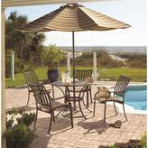 Panama Jack Outdoor Island Breeze 5-piece Slatted Dining Group with Arm Chairs