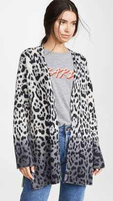 360 Sweater Jocelyn Leopard Cashmere Cardigan