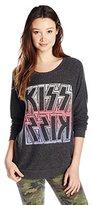 Junk Food Clothing Junior's Kiss Hacci Graphic Sweatshirt