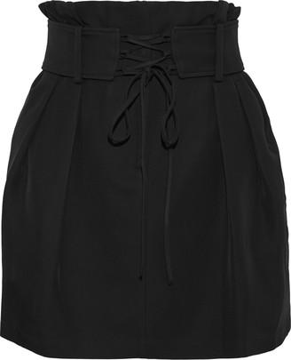 IRO Lamila Lace-up Cady Mini Skirt