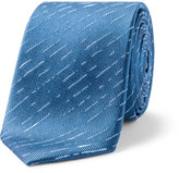Simon Carter Needle Textured Stripe Tie
