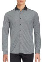 Saks Fifth Avenue Textured Cotton Shirt