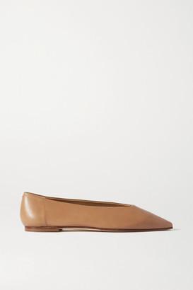 AEYDĒ Betty Leather Flats - Neutral