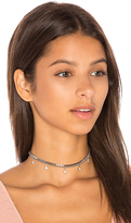 joolz by Martha Calvo Starlight Curb Choker in Metallic Silver.