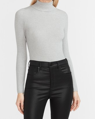 Express Fitted Ribbed Turtleneck Sweater