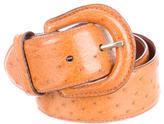 Polo Ralph Lauren Caramel Ostrich Belt