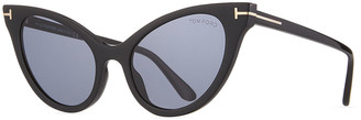 Tom Ford Evelyn Dramatic Plastic Cat-Eye Sunglasses
