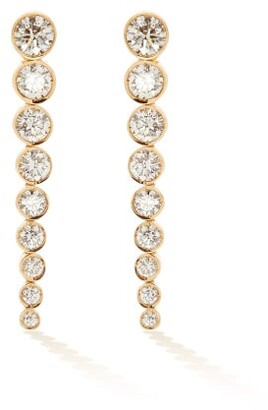 Sophie Bille Brahe Sandro Diamond & 18kt Gold Drop Earrings - Womens - Diamond