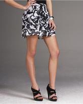 Chiffon Ruffled Mini Skirt