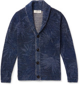 Etro - Shawl-collar Mélange Cotton And Linen-blend Cardigan