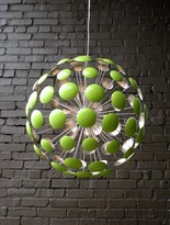 The Well Appointed House Bilbao Chartreuse Green and Silver Leaf Chandelier
