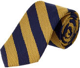 Brooks Brothers Yellow Striped Wool-Silk Blend Tie