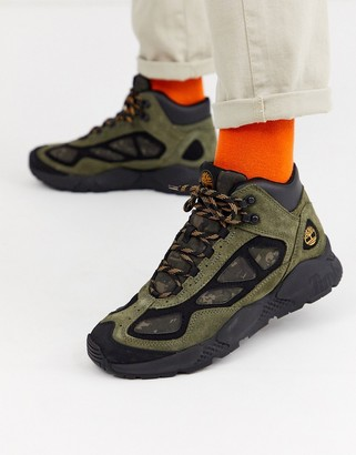 Timberland ripgorge mid boots in khaki camo-Green