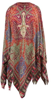 Etro Handkerchief-hem Printed Blouse - Red Multi