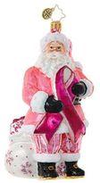 Christopher Radko Breast Cancer Santa Figurine