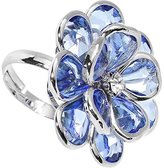 Body Candy Blue Faceted Blooming Flower Adjustable Ring