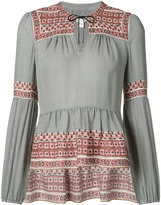 Veronica Beard peplum boho blouse - women - Silk - 4