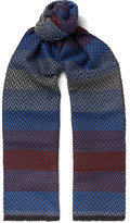 Missoni Fringed Zigzag-Patterned Wool-Jacquard Scarf