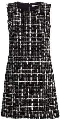 Alice + Olivia Coley Tweed A-Line Mini Dress