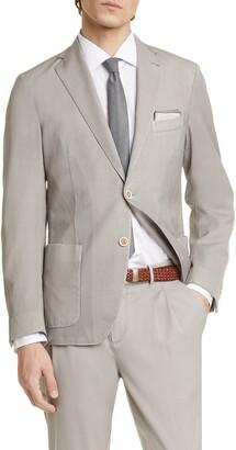 Eleventy Trim Fit Washed Wool Sport Coat