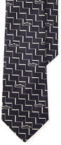 Ralph Lauren Purple Label Zigzag Silk Jacquard Tie