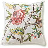 Southern Living Floral-Embroidered Square Pillow