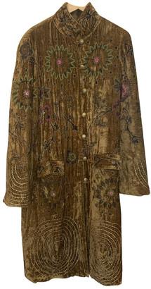 Antik Batik Camel Velvet Coats