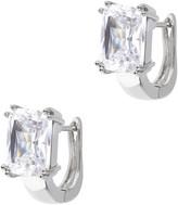 Milor Steel By Design Emerald Cut Crystal Earrings
