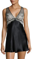Calvin Klein Empire-Waist Lace and Silk Chemise