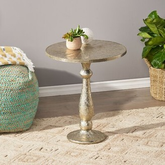 Dakota Fields Pedestal End Table