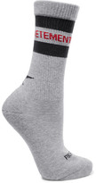 Vetements Reebok Intarsia Cotton-blend Socks - Gray