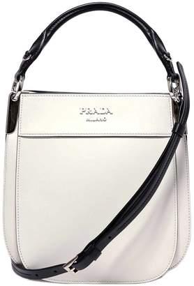 Prada Logo Top Handle Messenger Bag