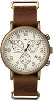 Timex Men's Weekender Leather Chronograph Watch - TW2P85300JT