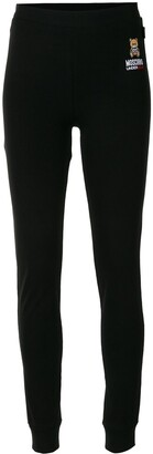 Moschino Underbear embroidered leggings