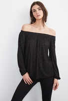 Zinnia Texture Knit Off The Shoulder Tee