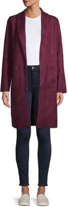 Laundry by Shelli Segal Open-Front Long Jacket