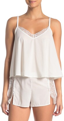 French Connection Lace Trim Camisole & Shorts 2-Piece Pajama Set