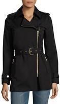 MICHAEL Michael Kors Asymmetrical Zip Trench Coat