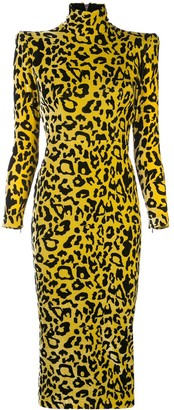 Alex Perry Miles leopard print dress