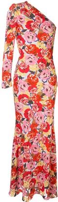 Rebecca Vallance Blume floral-print gown