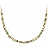 Orlando Orlandini Gold Plate Rubber Necklace