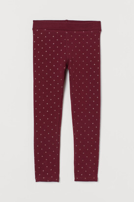 H&M Leggings with Brushed Inside - Red