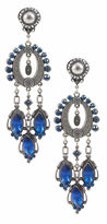 One Kings Lane Vintage Silver & Blue Chandelier Earrings