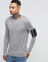 Asos Crew Neck Jumper With Military Pocket Styling