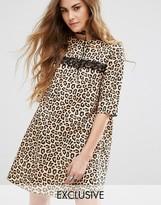 Reclaimed Vintage Mini Dress In Leopard