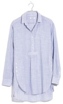 Madewell Women's Stripe Side Button Popover Shirt