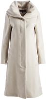 Cole Haan Ecru Wool-Blend Trench Coat